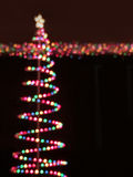 Multicolor bokeh christmas lights Royalty Free Stock Image