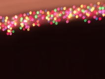 Multicolor bokeh christmas lights Stock Photography