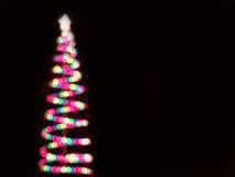 Multicolor bokeh christmas tree Royalty Free Stock Photography