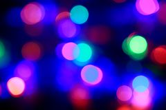 Multicolor bokeh circle background. Stock Image