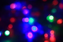 Multicolor bokeh circle background. Stock Images