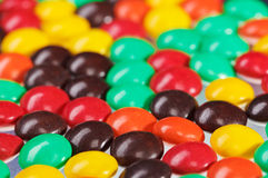 Multicolor bonbon sweets background, closeup Stock Image