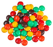 Multicolor bonbon sweets (ball candies) heap Stock Photography