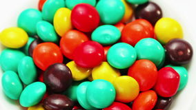 Multicolor bonbon sweets (ball candies) rotating Stock Image