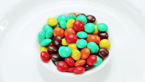 Multicolor bonbon sweets (ball candies) rotating Stock Photography