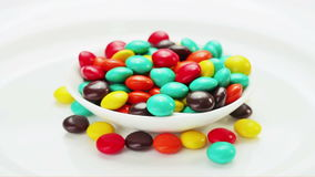 Multicolor bonbon sweets (ball candies) rotating Stock Photos