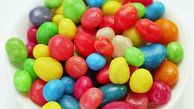 Multicolor bonbon sweets (ball candies) rotating Royalty Free Stock Photos