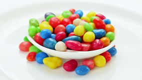Multicolor bonbon sweets (ball candies) rotating Royalty Free Stock Images