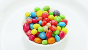 Multicolor bonbon sweets (ball candies) rotating Stock Photo