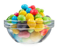 Multicolor bonbon sweets in glass bowl Stock Photo
