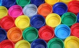 Multicolor Bottle Caps royalty free stock image