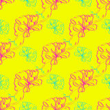 Multicolor bow and ribbon bright seamless pattern Royalty Free Stock Images