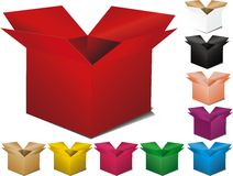 Multicolor box Stock Photography