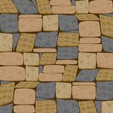 Multicolor Brick Textured Background. This domestic uniform Brick background is a beautiful blend of slate Grey,Olive and Sandy brown undertone perfect for Stock Photography