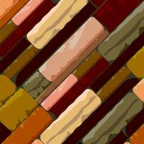 Multicolor Brick Textured Background in Retro Shades. This domestic uniform Brick Wall background is a beautiful blend of retro undertone perfect for flooring Stock Image
