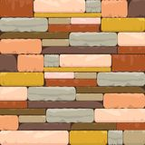 Multicolor Brick Textured Background with Varied structure. This domestic uniform Brick Wall background is a beautiful blend of multicolor undertone and varied Stock Photo