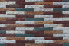 Multicolor brick wall for pattern Stock Photo