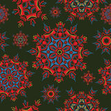 Multicolor bright ethnic floral pattern texture Stock Photography