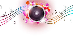 Multicolor Bright Music Background Stock Photography