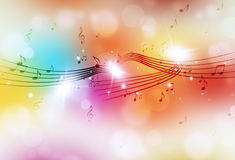 Multicolor Bright Music Background Royalty Free Stock Photography