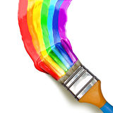 Multicolor Brush Royalty Free Stock Photography