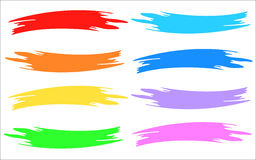 Multicolor brush strip paint samples Royalty Free Stock Photos