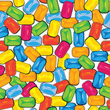 Multicolor bubblegum of seamless pattern stock illustration
