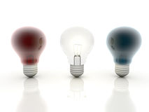 Multicolor bulb. A multicolor bulb on isolaebackground Royalty Free Stock Photo