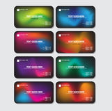 Multicolor business card. Use any size Stock Images