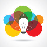 Multicolor business idea  Royalty Free Stock Images