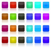 Multicolor button squares. Multicolor buttons squares for the web royalty free illustration