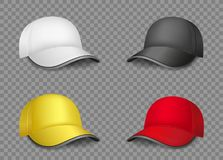 Multicolor caps set template Royalty Free Stock Photography
