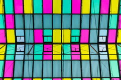 Multicolor ceiling with skylight Stock Photography
