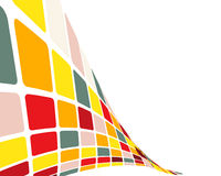 Multicolor checked background Stock Photo