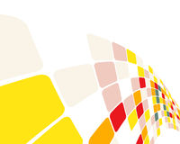 Multicolor checked background Stock Image