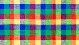 Multicolor checked tablecloth stock image