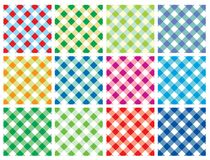Multicolor Checkered Vector Background. Checkered Vector Background in different color palette Stock Photos