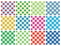 Multicolor Checkered Vector Background. Checkered Vector Background in different color palette Stock Illustration