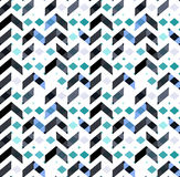Multicolor chevron style seamless pattern. Arrows texture. Geometric Vector illustration Stock Photo