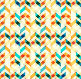 Multicolor chevron style seamless pattern. Arrows texture. Geometric Vector illustration Royalty Free Stock Images