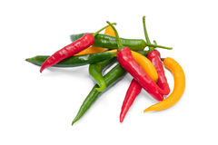 Multicolor chili peppers Royalty Free Stock Photo