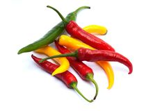 Multicolor chili peppers Stock Image
