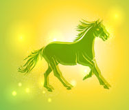 Multicolor Chinese New Year of horse 2014 background Royalty Free Stock Image