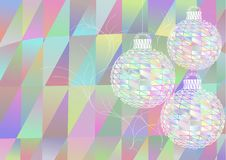 Multicolor christmas balls Royalty Free Stock Photography