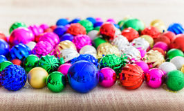 Multicolor Christmas balls christmas background Royalty Free Stock Photo