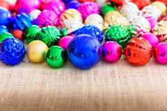 Multicolor Christmas balls christmas background Royalty Free Stock Photography