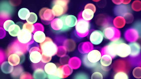 Multicolor circle bokeh. Computer generated seamless loop abstract background stock footage
