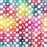 Multicolor circle seamless pattern stock illustration