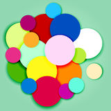 Multicolor circles and labels-3 Royalty Free Stock Photos
