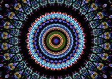 Multicolor circular del caleidoscopio de la catedral Imagen de archivo